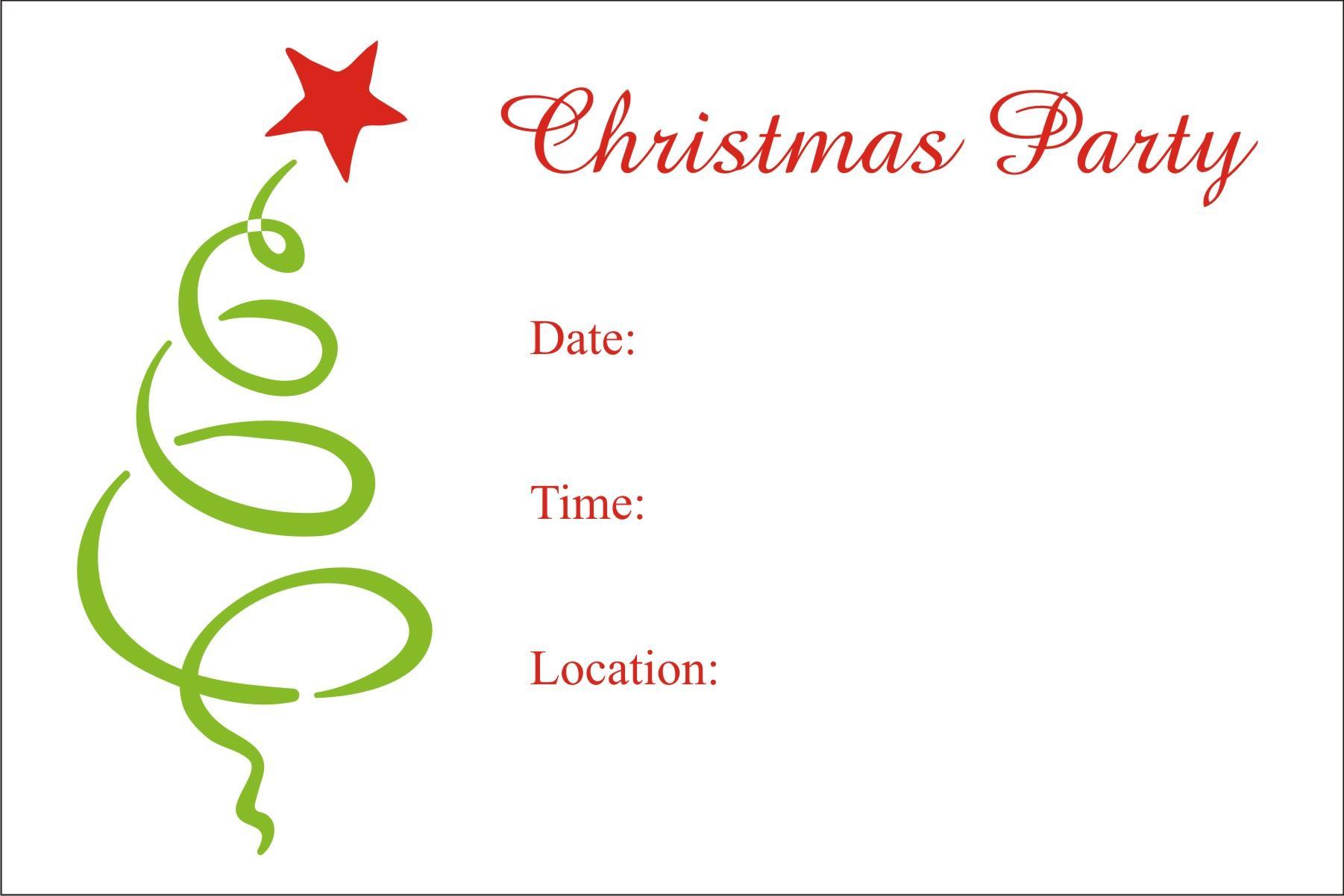 Free Christmas Dinner Invitation Template