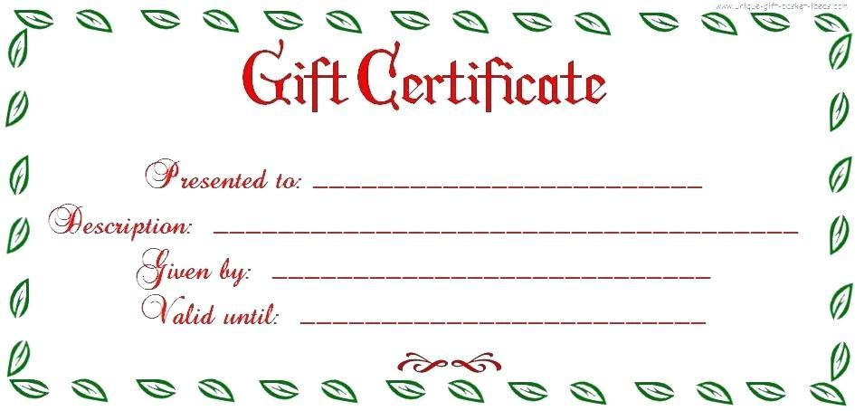 Free Christmas Gift Certificate Templates To Download
