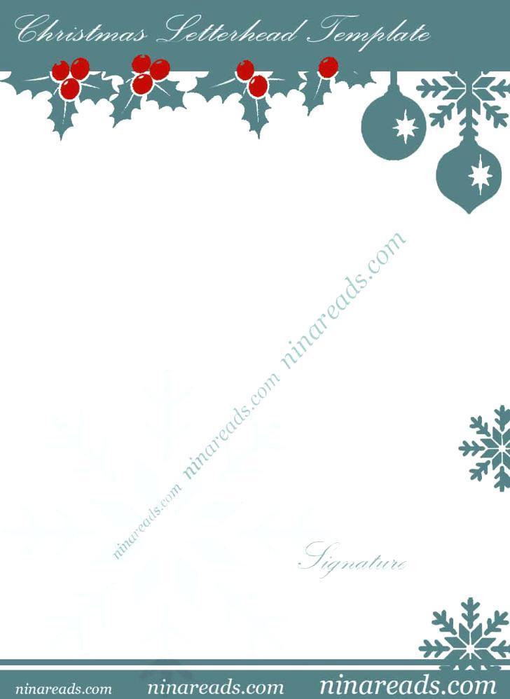 Free Christmas Letterhead Templates Download