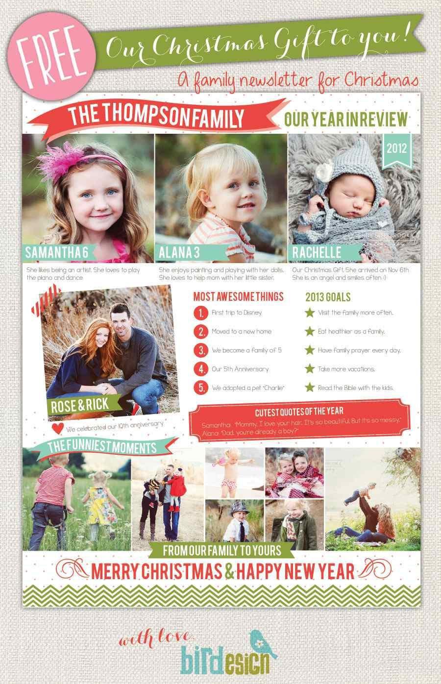 Free Christmas Newsletter Templates For Mac