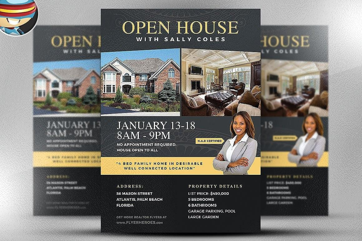 Free Christmas Open House Flyer Templates