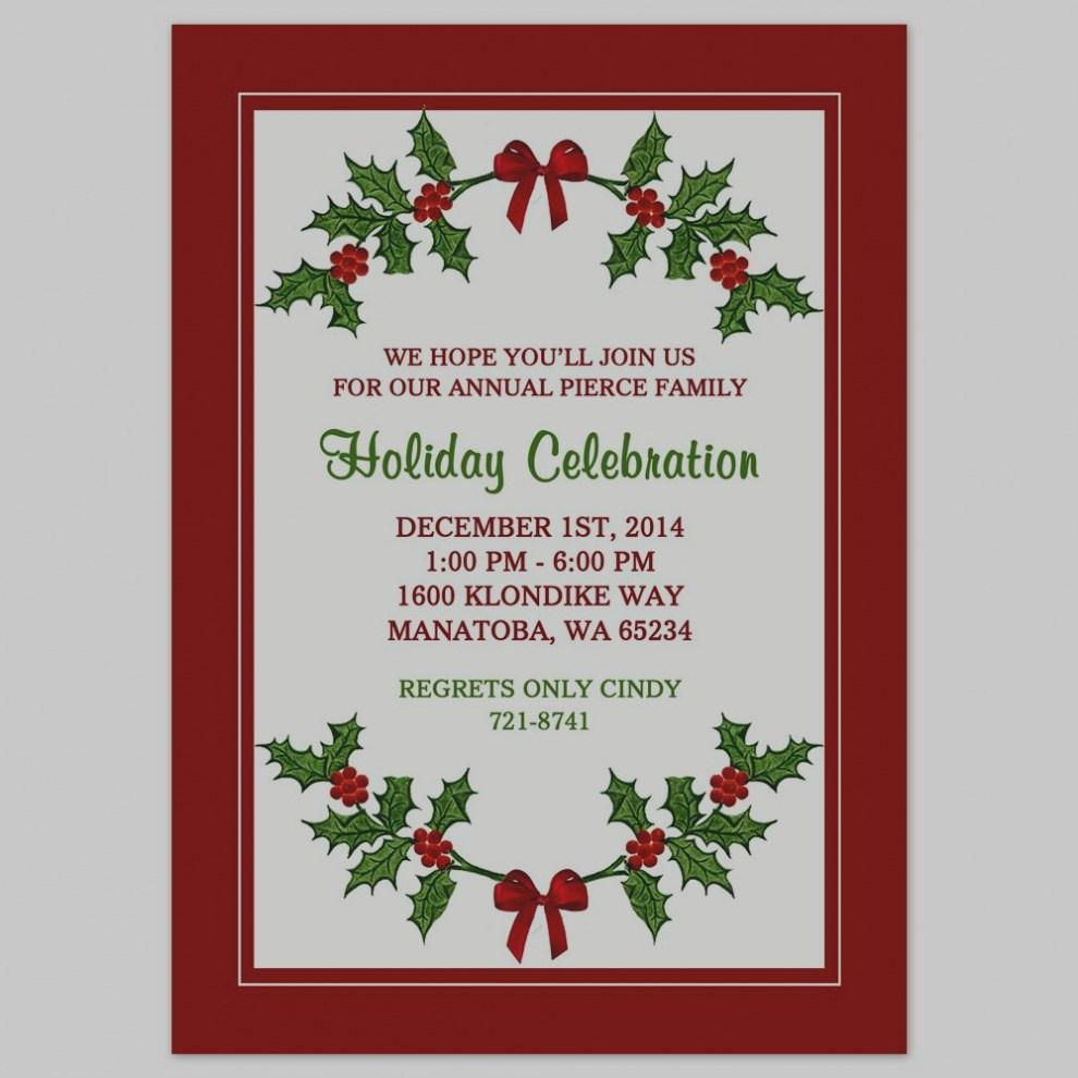 Free Christmas Party Flyers Templates