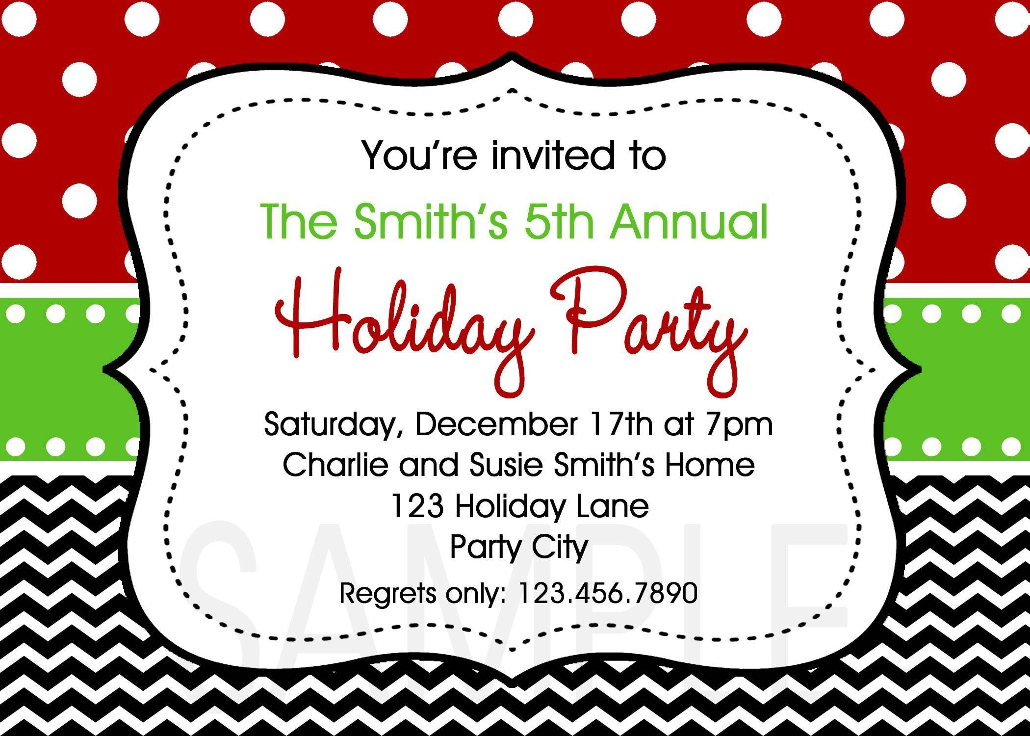 Free Christmas Party Invitation Template Word