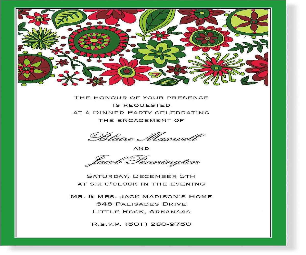 Free Christmas Party Invitation Wording Samples
