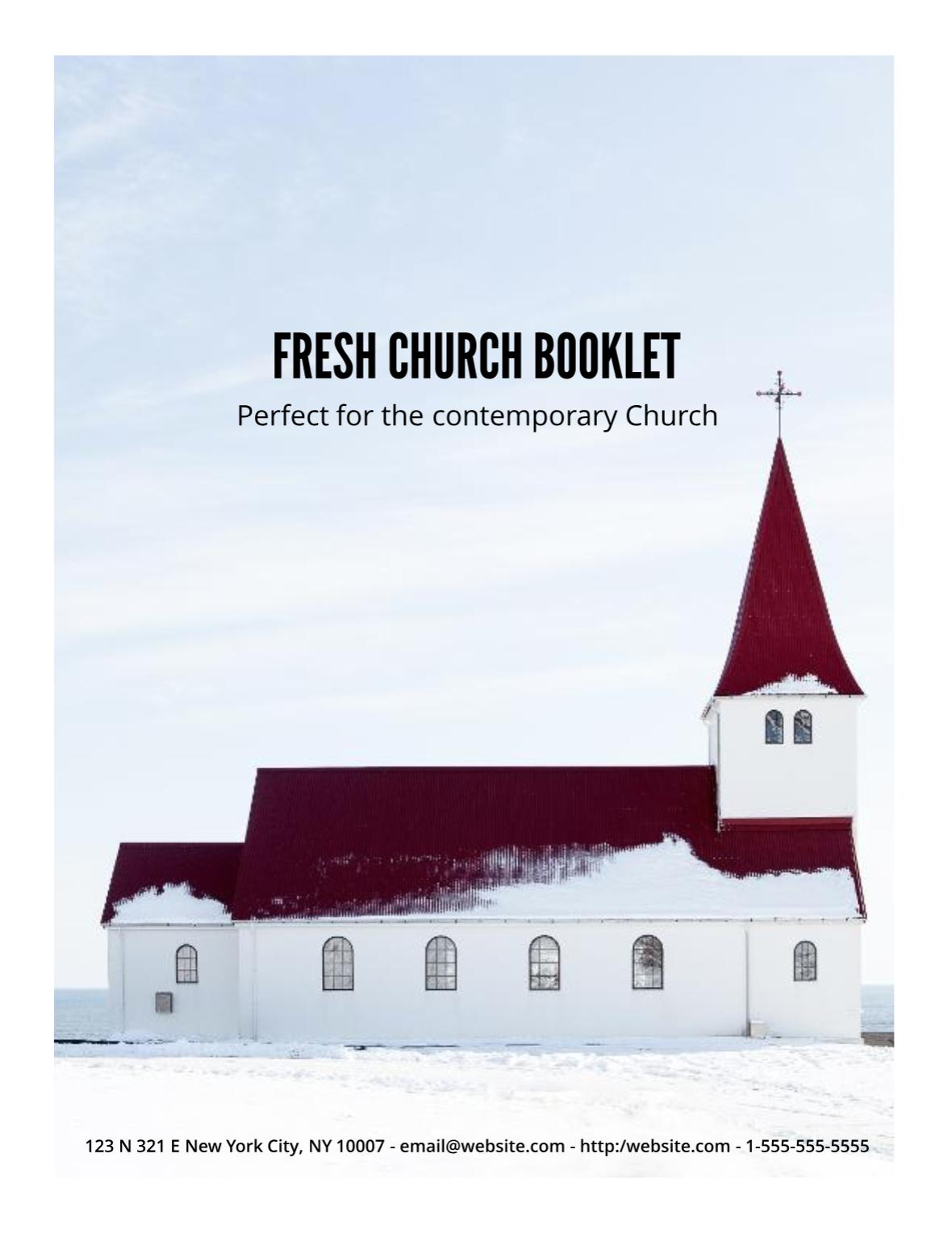 Free Church Booklet Template