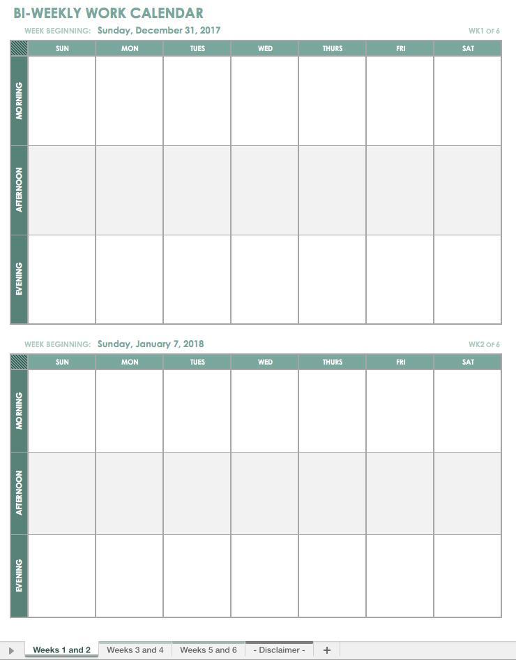 Free Church Calendar Templates