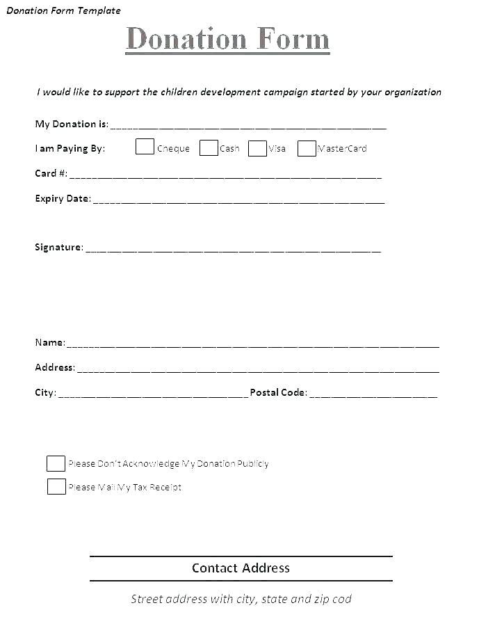 Free Church Donation Receipt Template