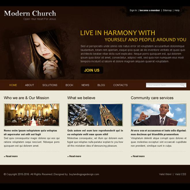 Free Church Website Templates Download