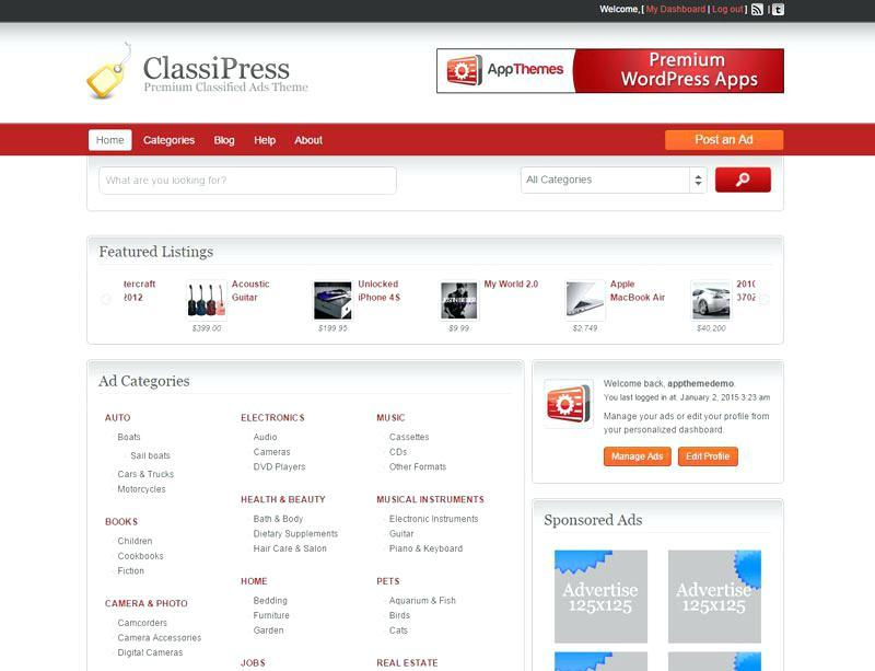 Free Classified Ads Template For Blogger