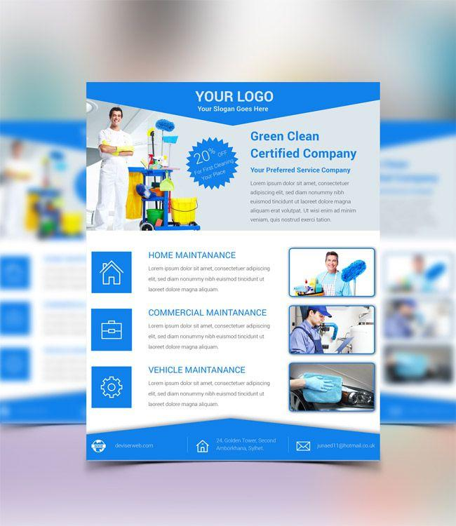 Free Cleaning Service Flyer Template
