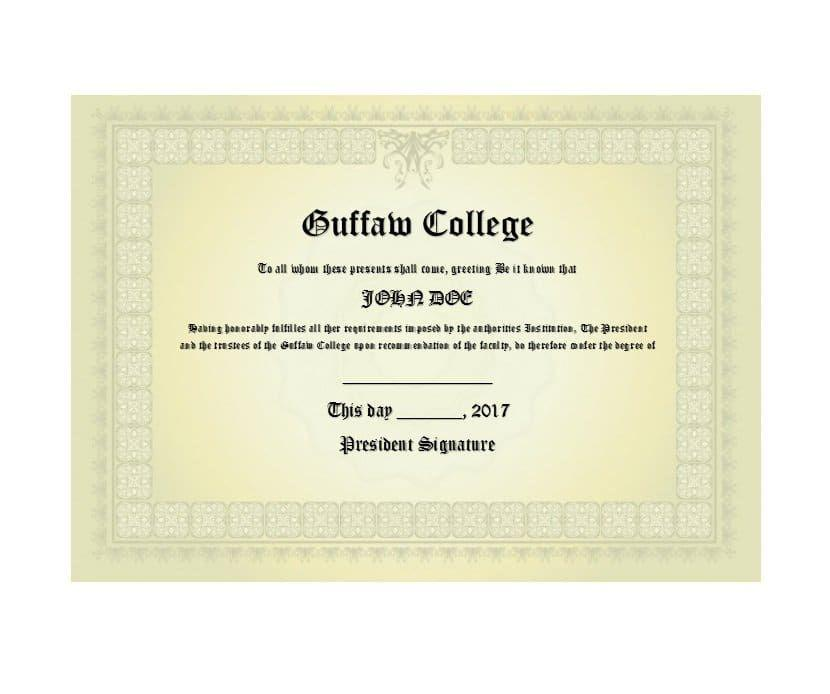 Free College Certificate Templates