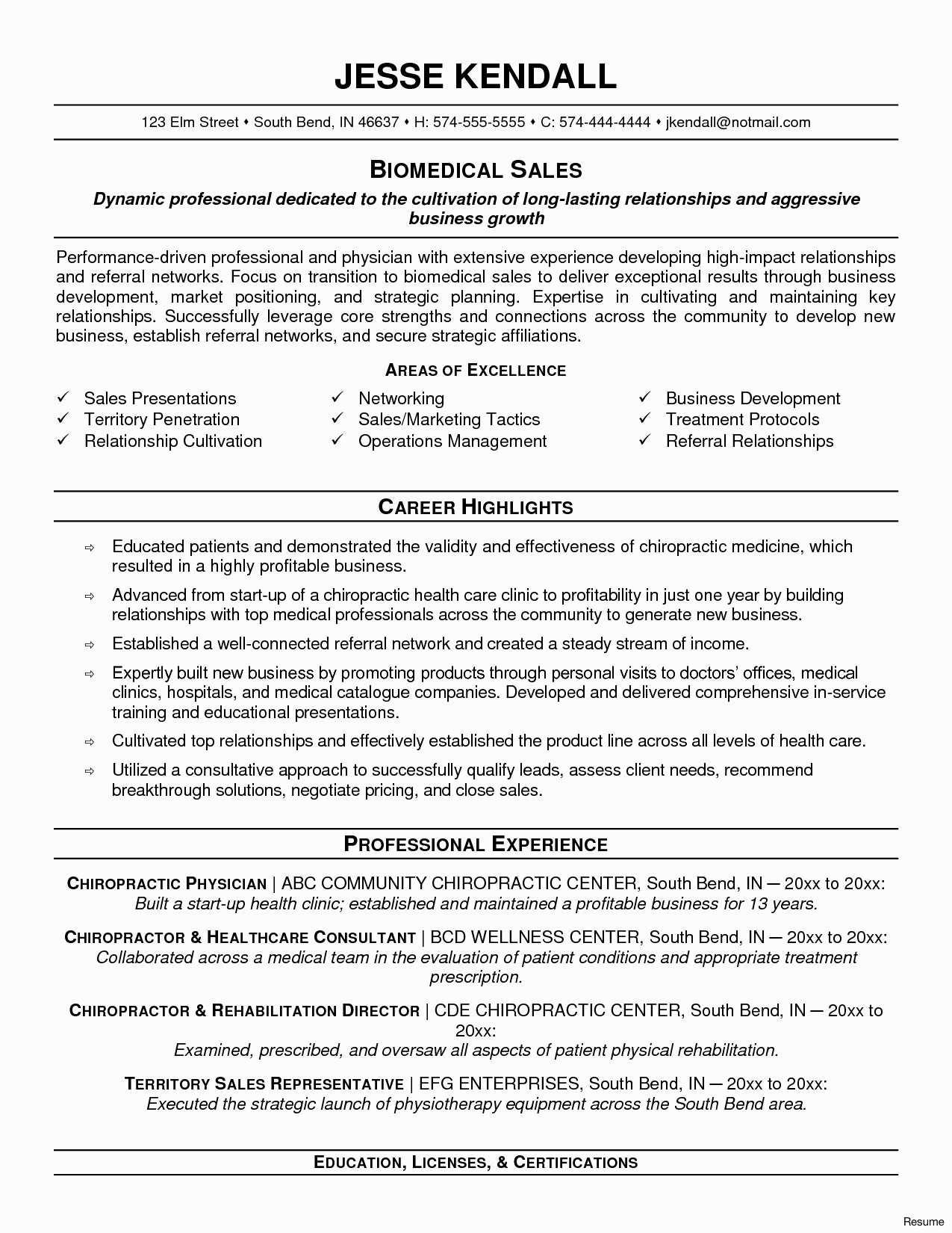 Free Combination Resume Template 2018