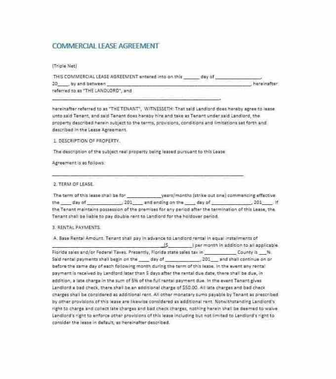 Free Commercial Lease Agreement Template Nz