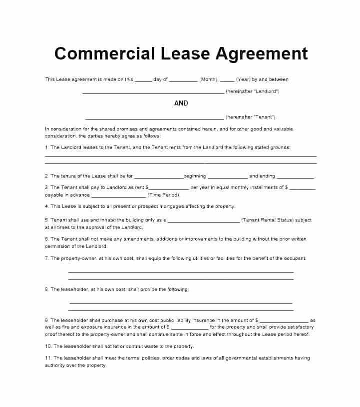 Free Commercial Lease Agreement Template Qld