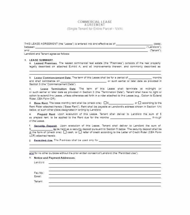 Free Commercial Lease Agreement Template Quebec