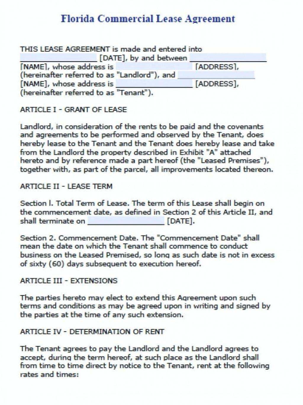 Free Commercial Lease Agreement Template Word Australia