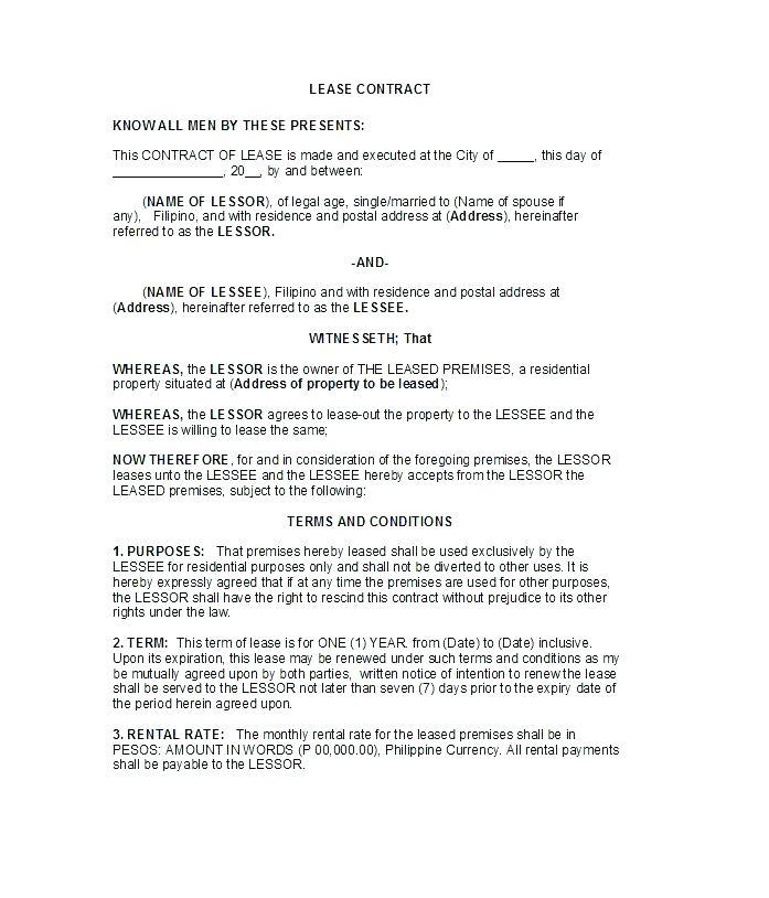 Free Commercial Sublet Lease Agreement Template