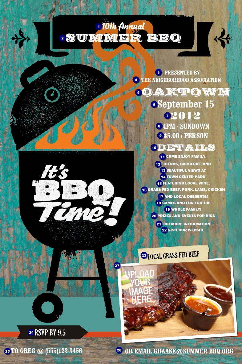 Free Company Bbq Flyer Template