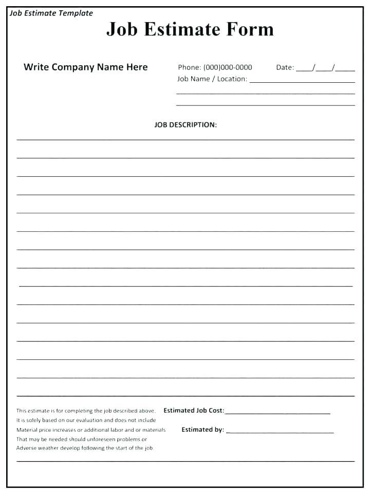 Free Concrete Bid Proposal Template