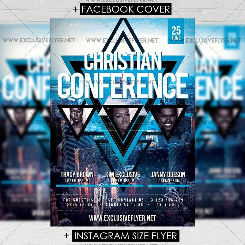 Free Conference Flyer Template Psd