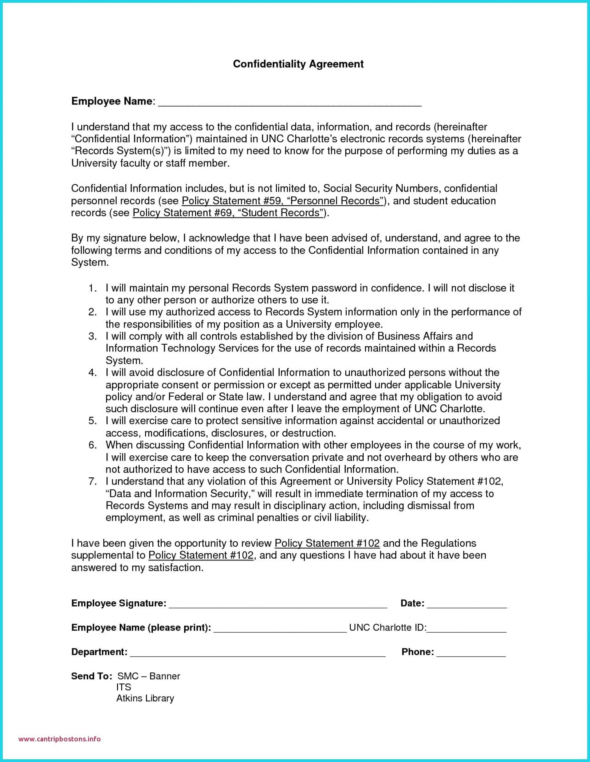 Free Confidentiality Agreement Template Victoria