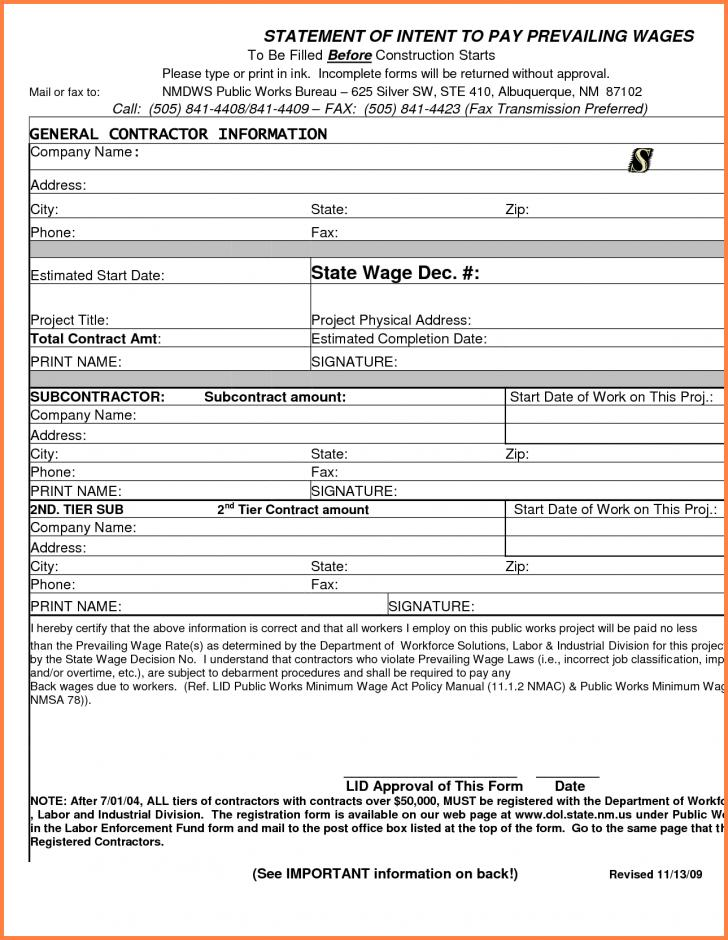 Free Construction Invoice Forms