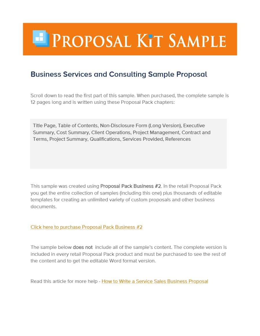 Free Consulting Proposal Template Word