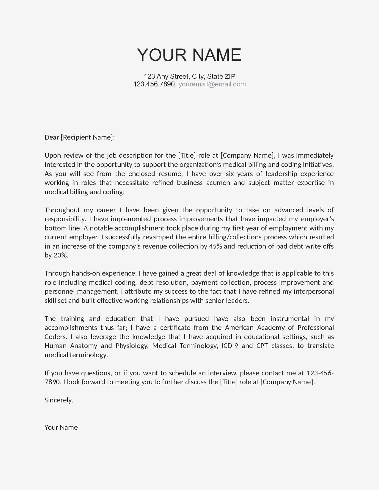 Free Cover Letter Template Australia