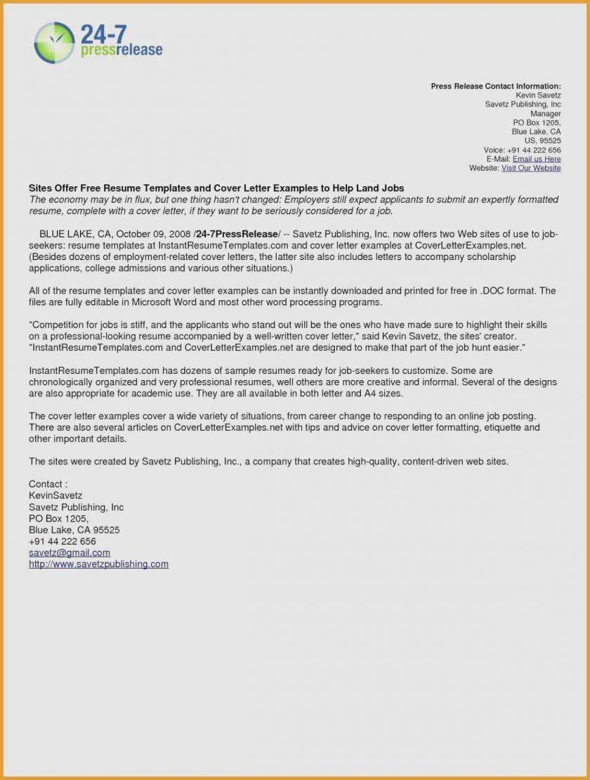 Free Cover Letter Template Online