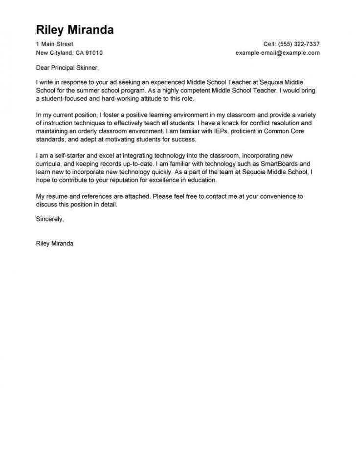Free Cover Letter Template Uk