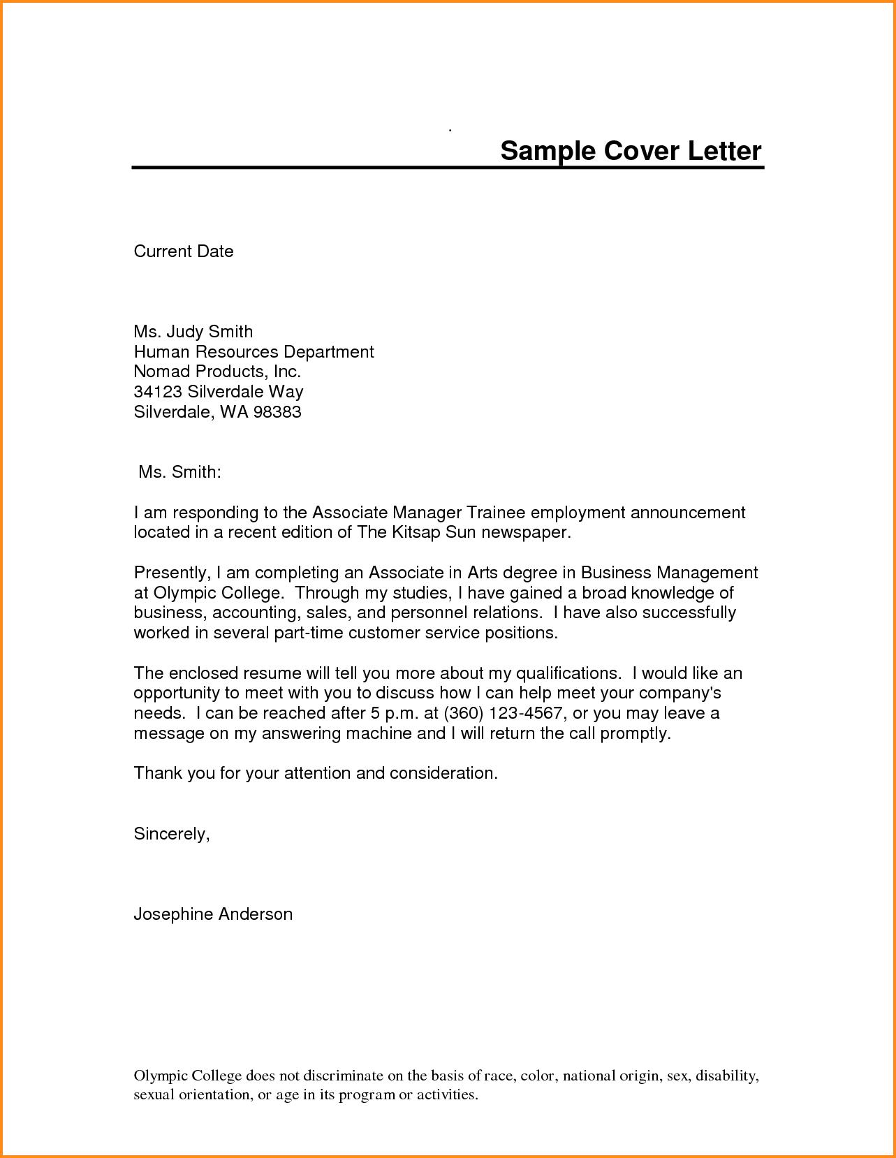 Free Cover Letter Templates Pdf