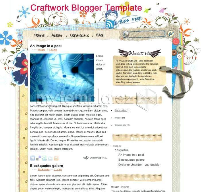Free Craft Website Templates