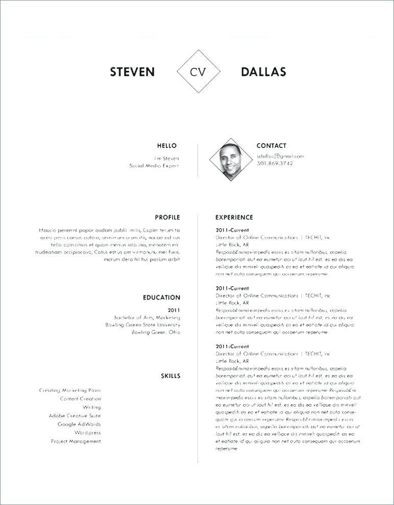 Free Creative Resume Templates Doc