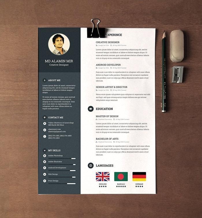 Free Creative Resume Templates Word 2017