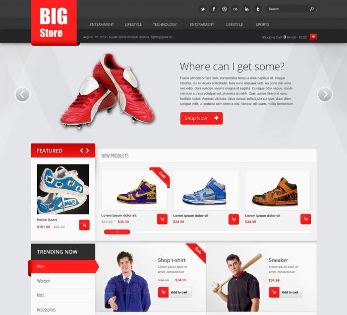 Free Css Templates For Ecommerce Websites