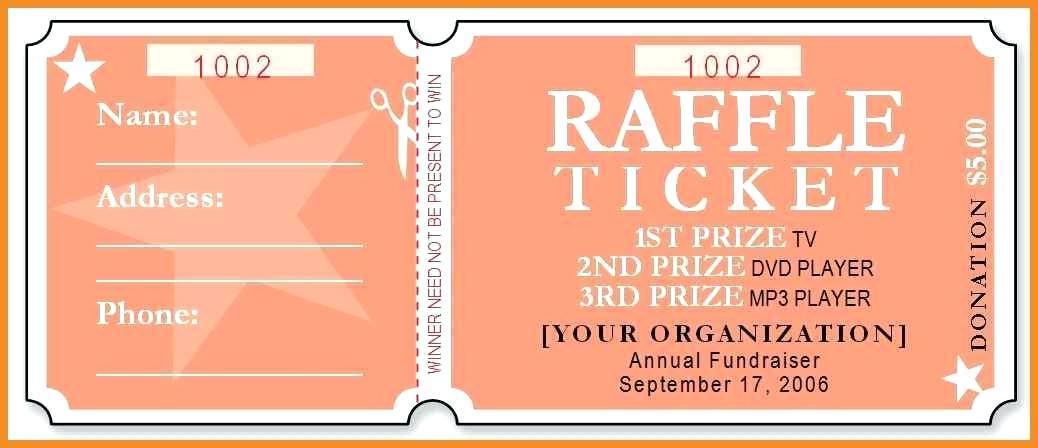 Free Custom Raffle Ticket Templates