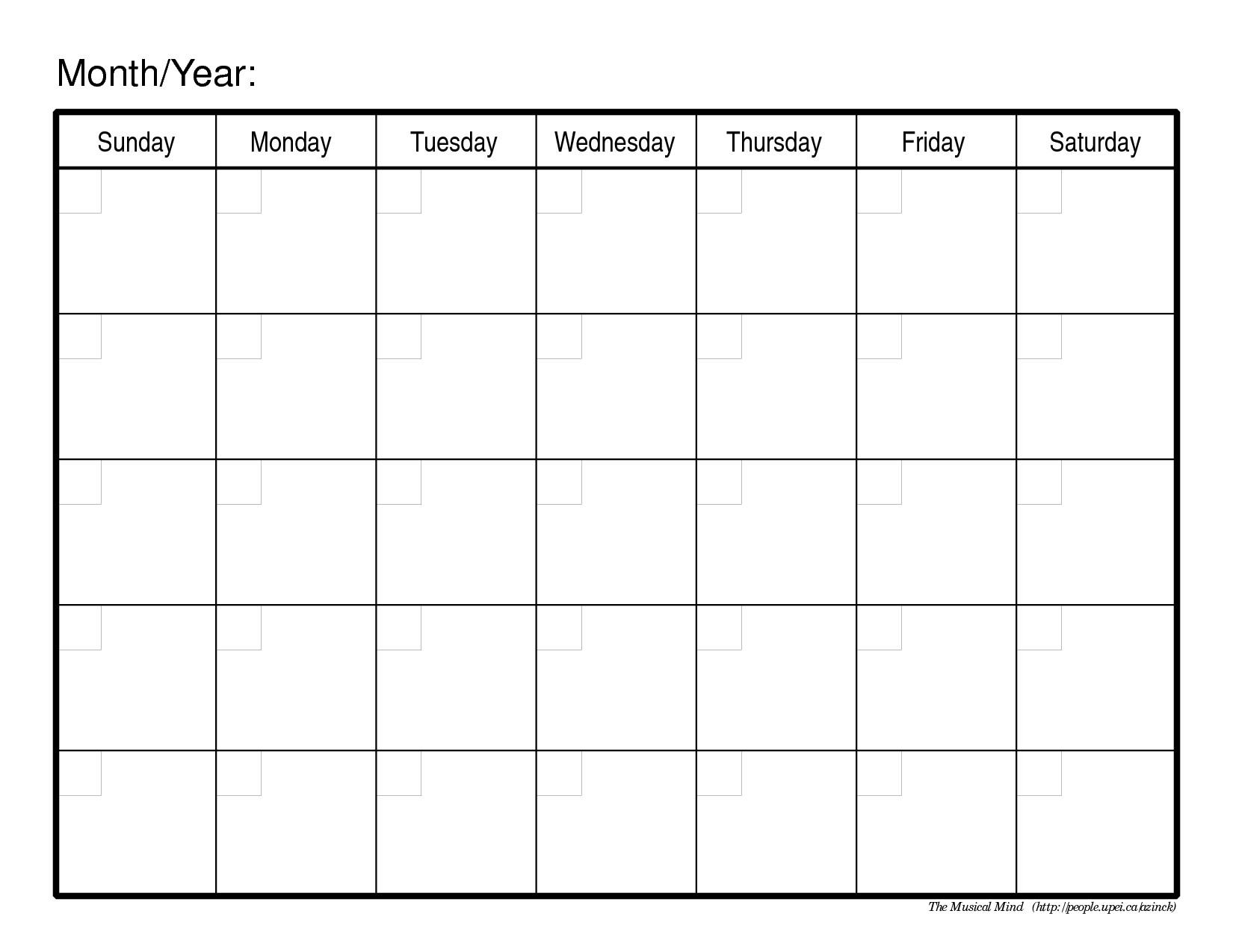 Free Customized Printable Calendar Templates