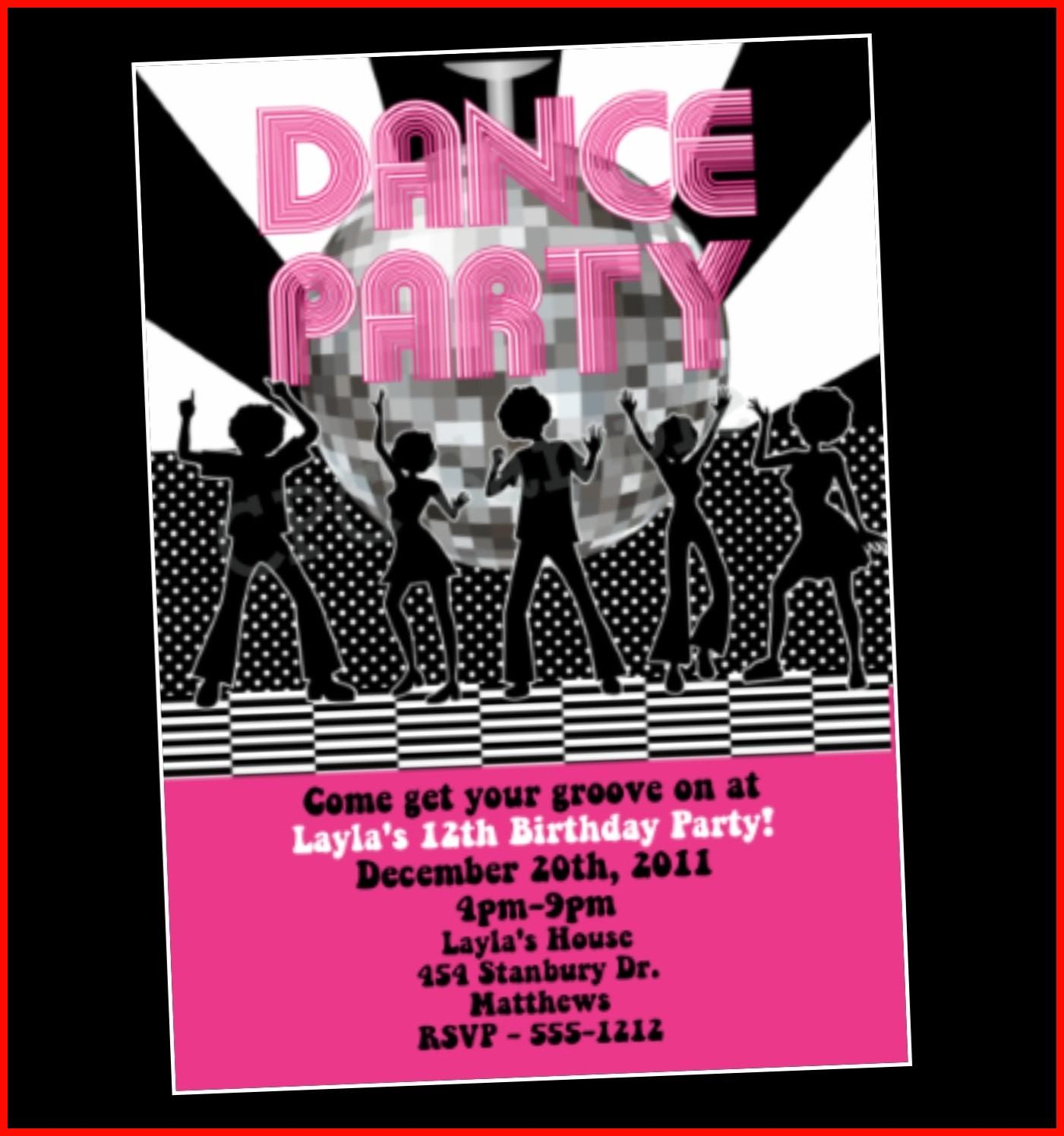 Free Dance Party Invitation Templates