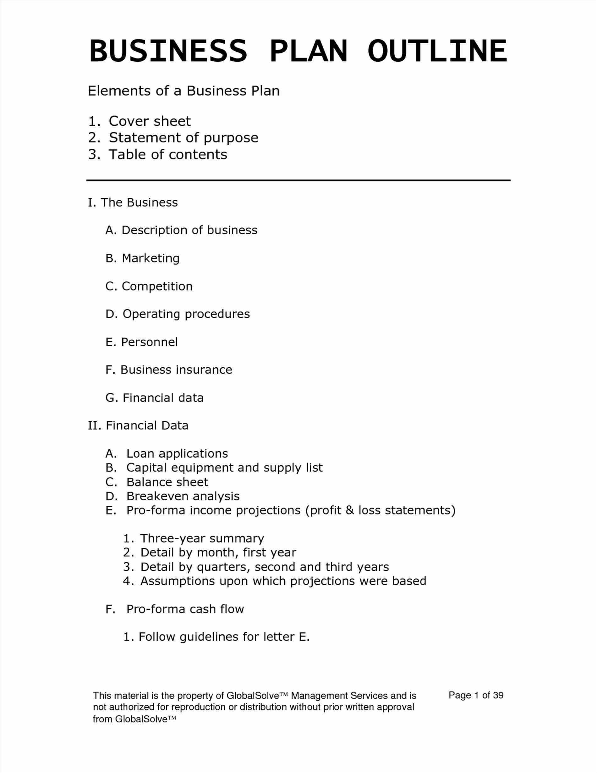 Free Daycare Business Plan Template