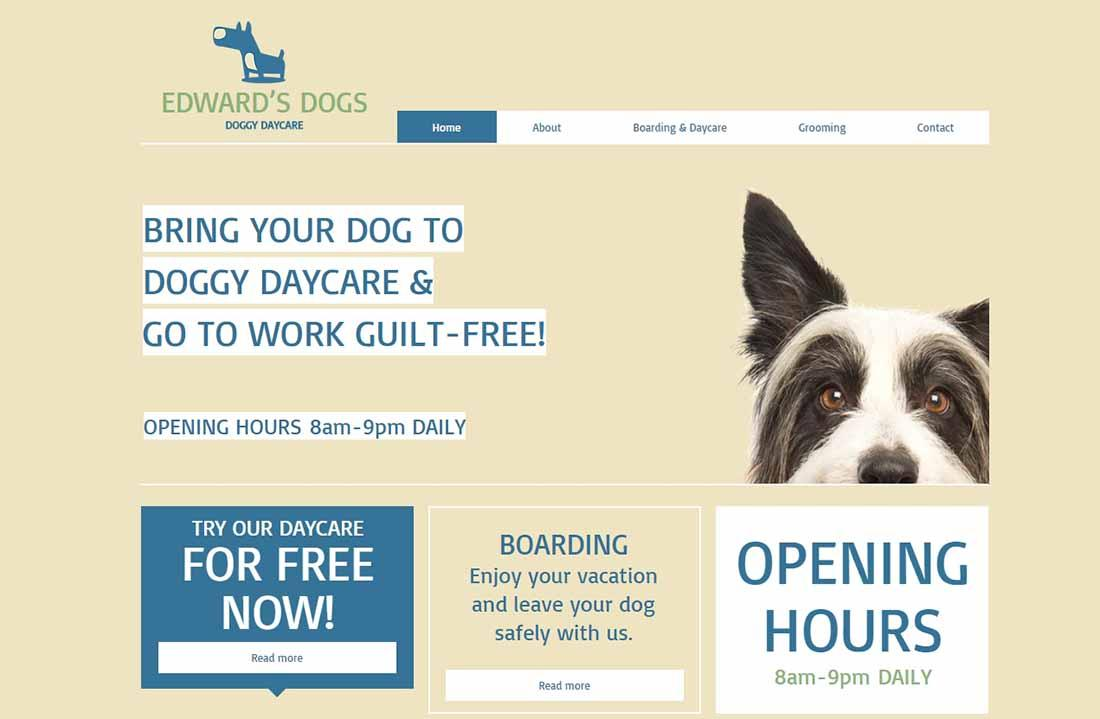 Free Daycare Website Templates