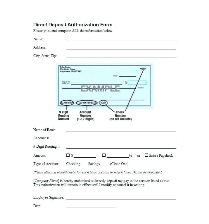 Free Deposit Form Template
