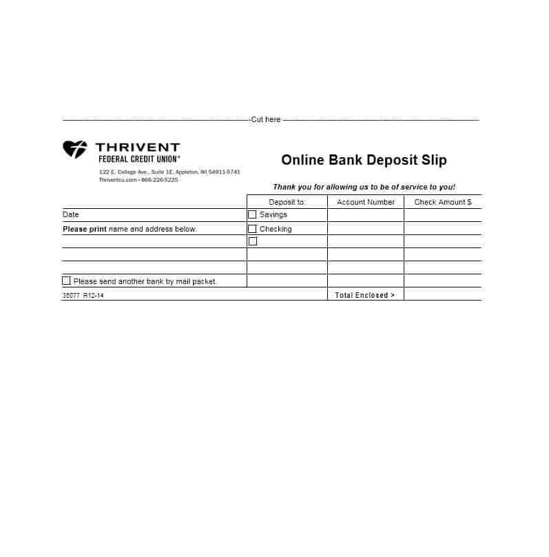 Free Deposit Ticket Template