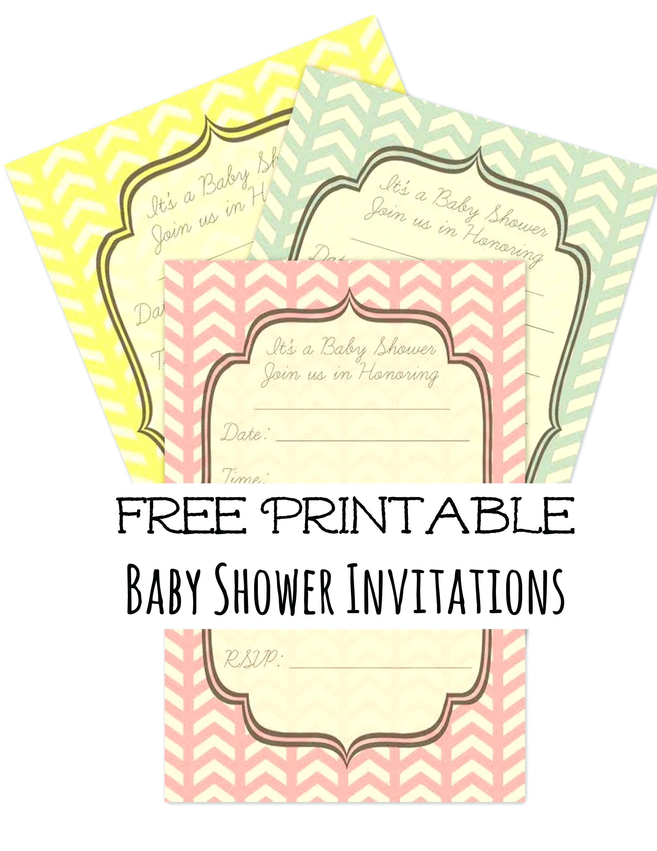 Free Diaper Shower Invitation Templates