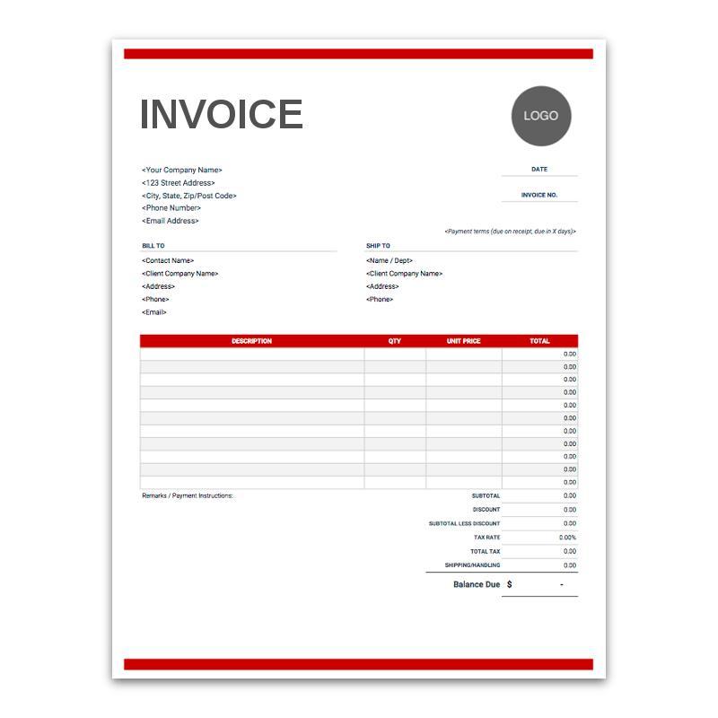 Free Digital Invoice Template