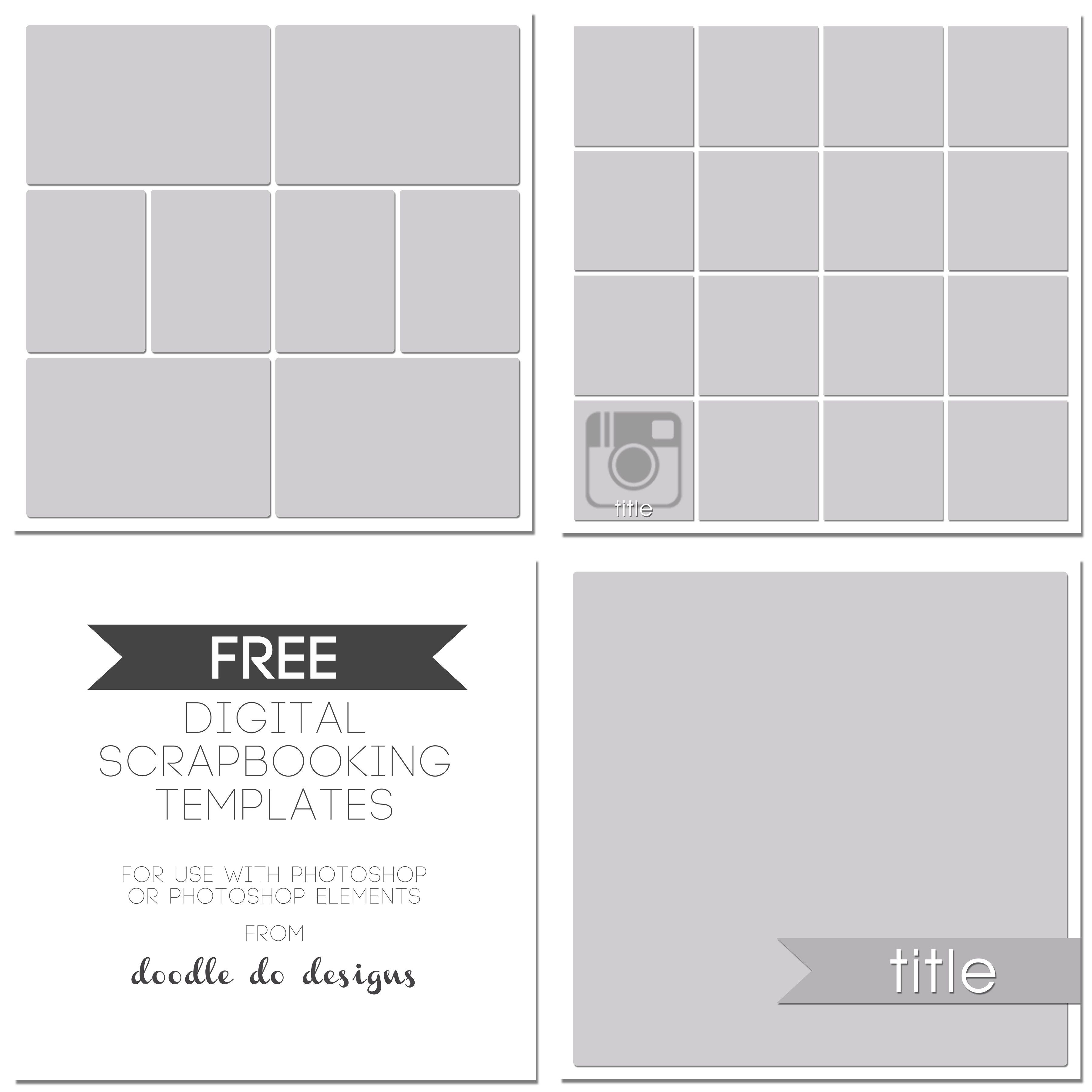 Free Digital Scrapbooking Templates