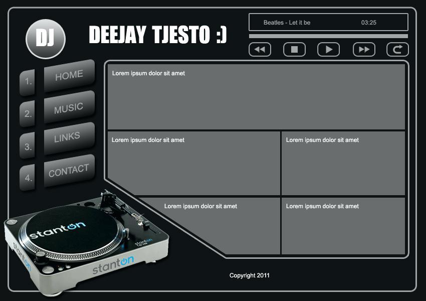 Free Dj Website Templates Dreamweaver