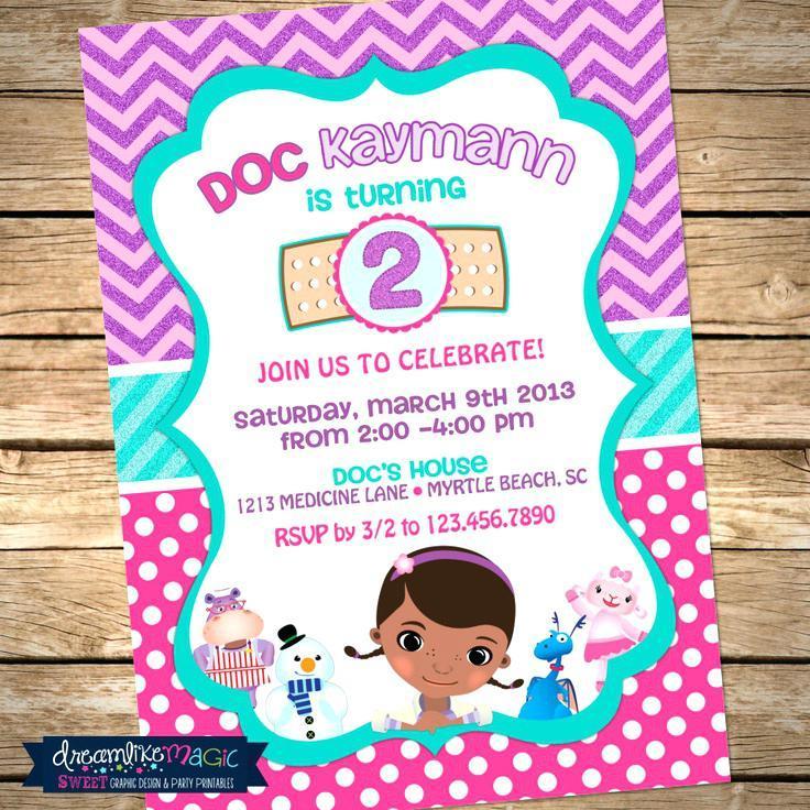 Free Doc Mcstuffins Invitation Templates