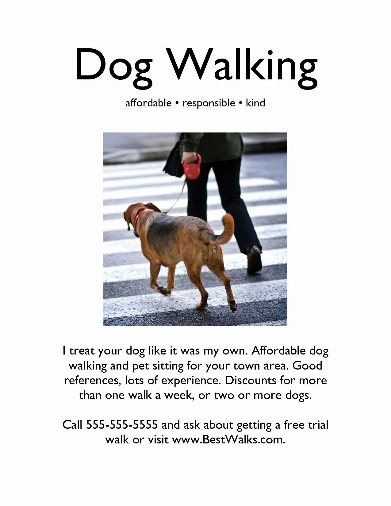 Free Dog Walking Flyer Template