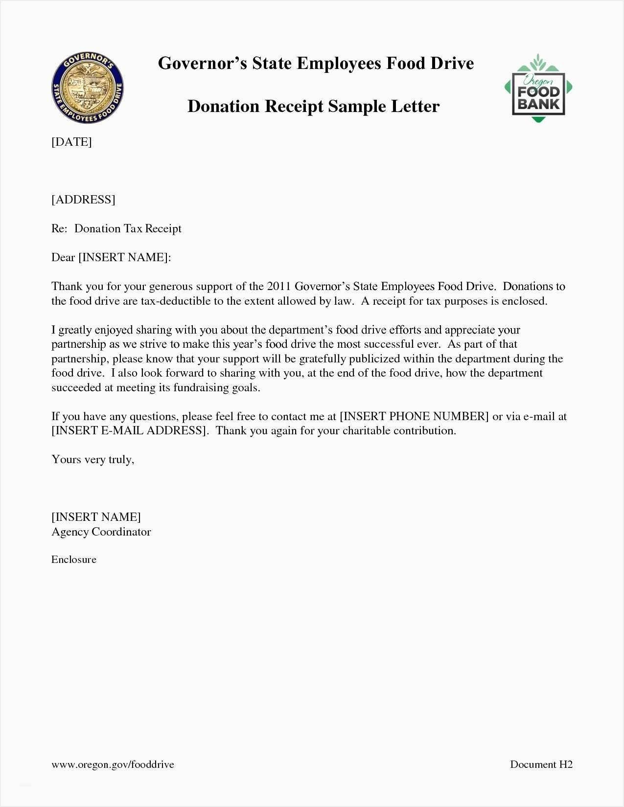 Free Donation Receipt Letter Template