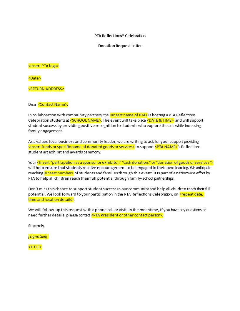 Free Donation Request Letter Templates